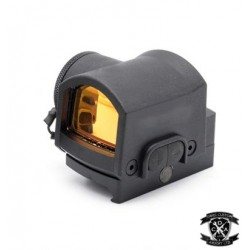 Tactical MRS Red Dot Sight (Black) 20mm Mounted With Free TM Style Glock 17 Mount