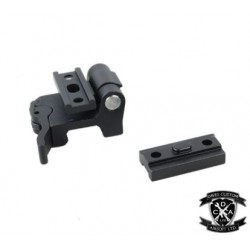 WADSN Fusion Style ModButton With Left or Right Wing Mount for Surefire Torches (Black / Dark Earth)