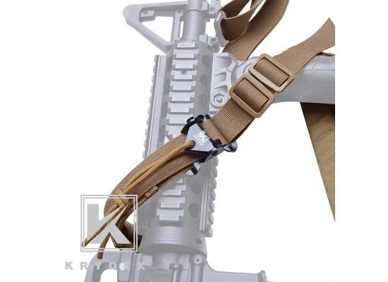 KRYDEX Cordura Modular Rifle Sling With Quick Adjust & Loops (Coyote Brown, Ranger Green, Black, Multi-Cam)