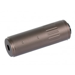 Big-Dragon 120mm AAC Style Suppressor With Flash Hider 14mm CCW (Brown)