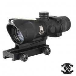 4x Magnified ACOG With Working Red Fibre Optic (Black)