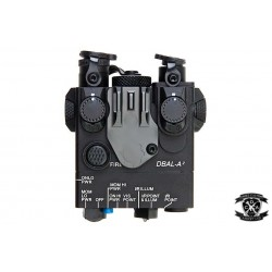 WADSN Metal DBAL-A2 With Red Visible Laser, IR Laser, & Torch With Strobe Function (Black)