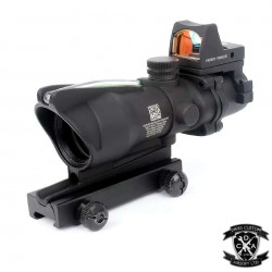 4x Magnified ACOG With Working Red Fibre Optic, Auto-Brightness RMR (Black)