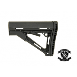 Magpul Style CTR Stock With Extended Butt Pad (Black / Tan)