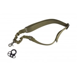 One-point Bungee Tactical Sling Belt with Mount - Olive Drab
