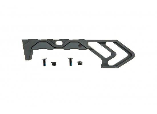Aluminum KeyMod Angled Forward Grip - Black