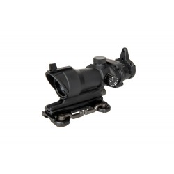 ACOG Style 4x32 Scope Replica with Lighting and QD Mount - Black
