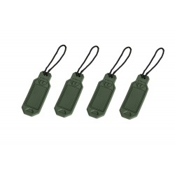 Set of personalized tags - olive