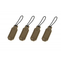 Set of personalized tags - tan