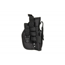 Universal Holster with Magazine Pouch - Black