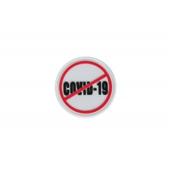 3D Patch - Stop COVID-19 - white