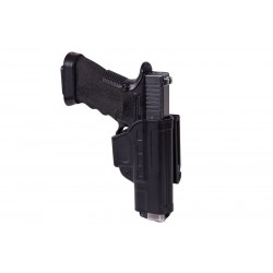 Fast Draw Holster With Belt Clip for Glock 17 - black