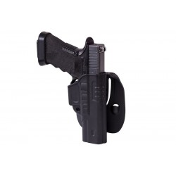 Fast Draw Holster With Belt Paddle for Glock 17 - black